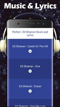 Perfect - Ed Sheeran Music & Lyrics screenshot 1