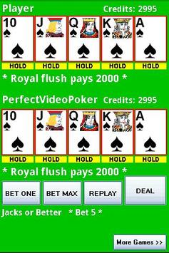 Perfect Video Poker Free poster