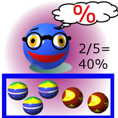 Learn percentages with fun No4 icon