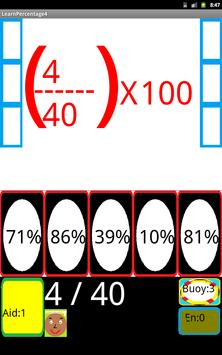 Learn percentages with fun No4 apk screenshot