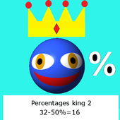 King of percentages 2 icon