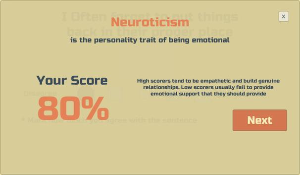 Free Personality Test screenshot 5