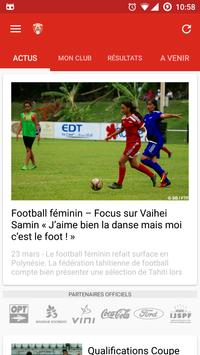 FTF - Féd. Tahitienne Football poster