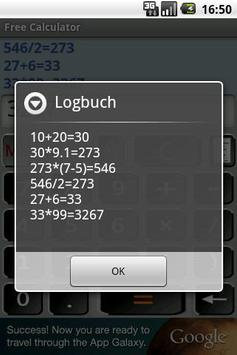 Free Calculator screenshot 1
