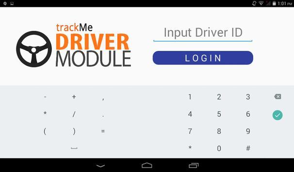 TrackMe Driver Module screenshot 1
