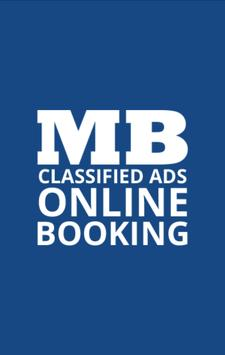 MB Classified Ads Booking poster