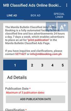 MB Classified Ads Booking apk screenshot