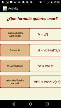 Calculadora de física (gratis) screenshot 1