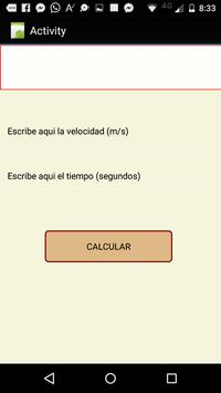 Calculadora de física (gratis) screenshot 2