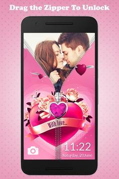 Love Zipper Lock screenshot 1