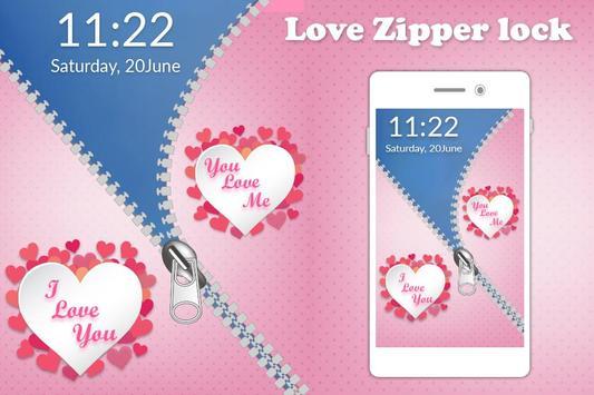 Love Zipper Lock screenshot 3
