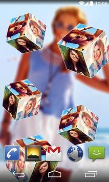 3D Photo Cube Live Wallpaper apk screenshot
