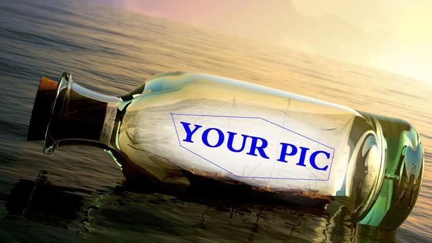 Bottle Photo Frame poster