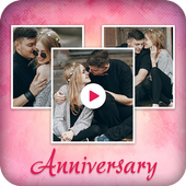 Anniversary Photo Video Maker with Music icon