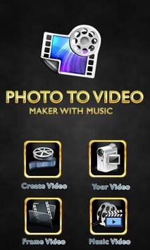 Photo Video Editor with Song poster