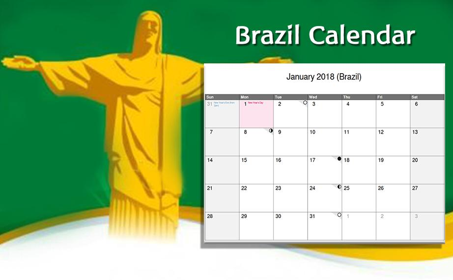 Calendario 2018 Brasil.Brazil Calendar 2018 Brasil Calendario 2018 For Android
