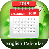 English Calender 2018 icon