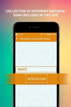 Birthday Song With Name apk screenshot