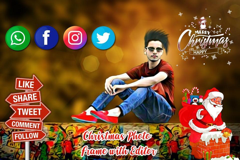 Christmas Photo Editor 2018 poster