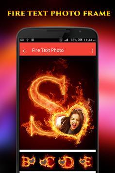 Fire Text Photo Frame screenshot 1