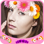 Collage Crown Flowers icon