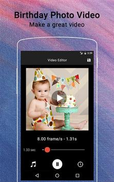 Birthday Video Maker poster