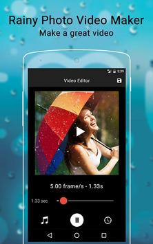 Rainy Photo Video Music Maker poster