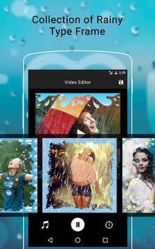 Rainy Photo Video Music Maker screenshot 1