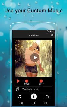 Rainy Photo Video Music Maker screenshot 3