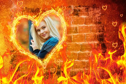 Fire Photo Frame poster