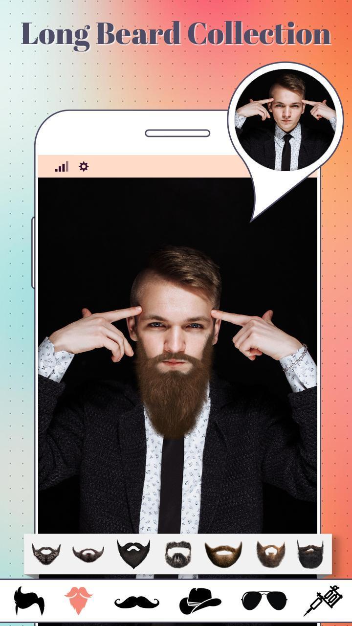 Beard & moustache Boys photo editor poster