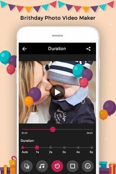 Birthday Photo to Video Converter apk screenshot