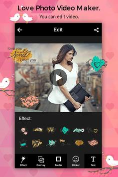 Love Photo Video Maker with Music apk screenshot