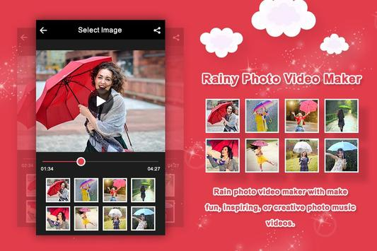 Rainy Photo Video Maker With Music poster