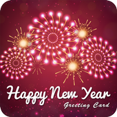 New Year Greetings Card 2017 icon