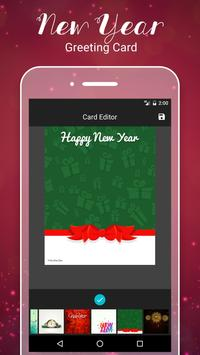 New Year Greetings Card 2017 poster