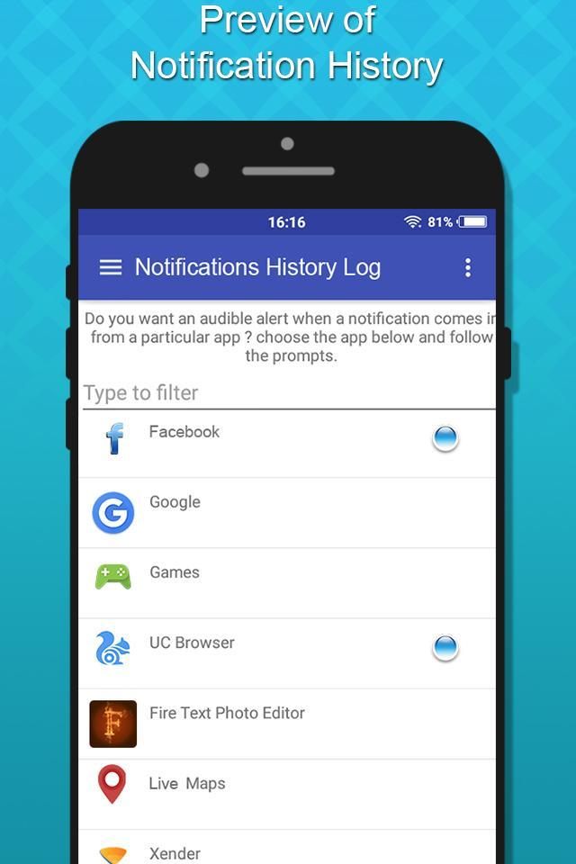 Notification History Log for Android - APK Download