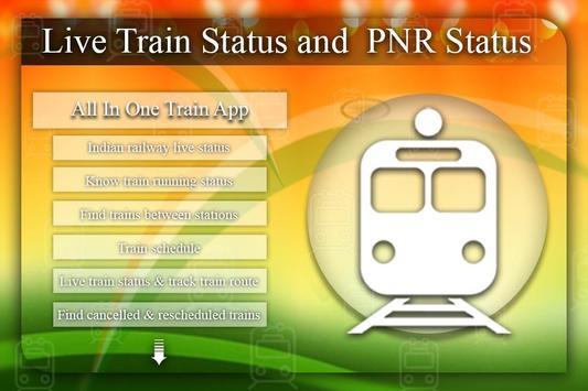 Live Train & PNR Status: Where is My Train? poster