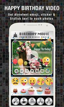 Birthday Video Maker with Song apk screenshot