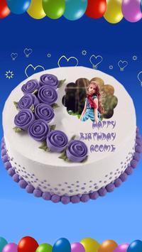 Photo On Birthday Cake poster