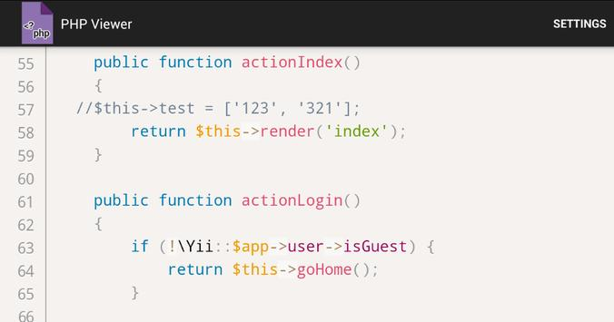 PHP Viewer apk screenshot