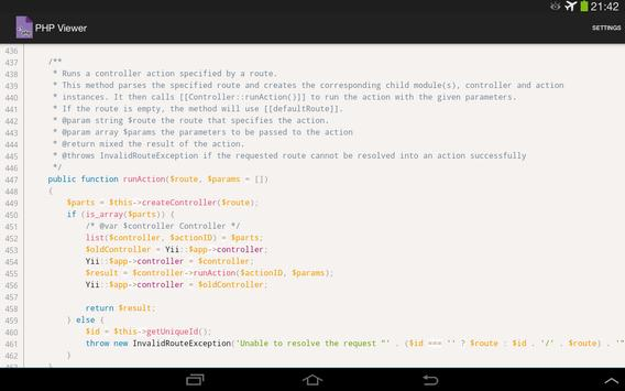 PHP Viewer apk screenshot