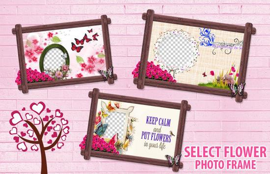 Flower Photo Frame poster