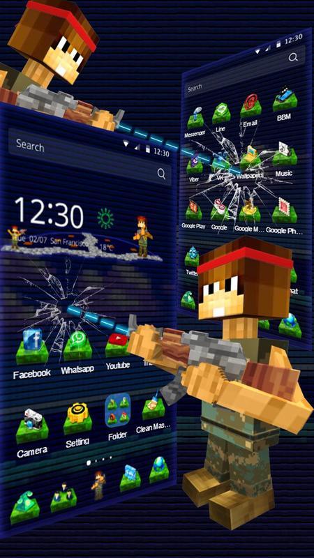 download pixel gun launcher apk