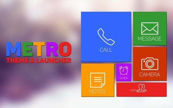 Metro Theme and Launcher apk screenshot