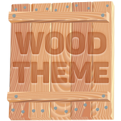Wood Theme and Launcher icon