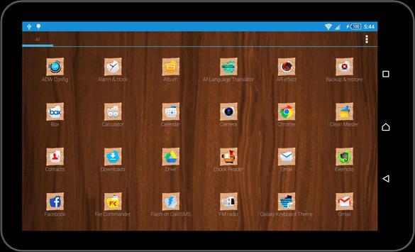 Wood Theme and Launcher apk screenshot