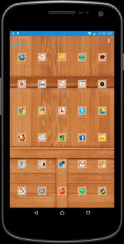Wood Theme and Launcher poster