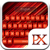 Neon Red Keyboard Theme icon