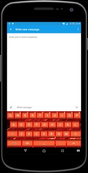 Neon Red Keyboard Theme apk screenshot